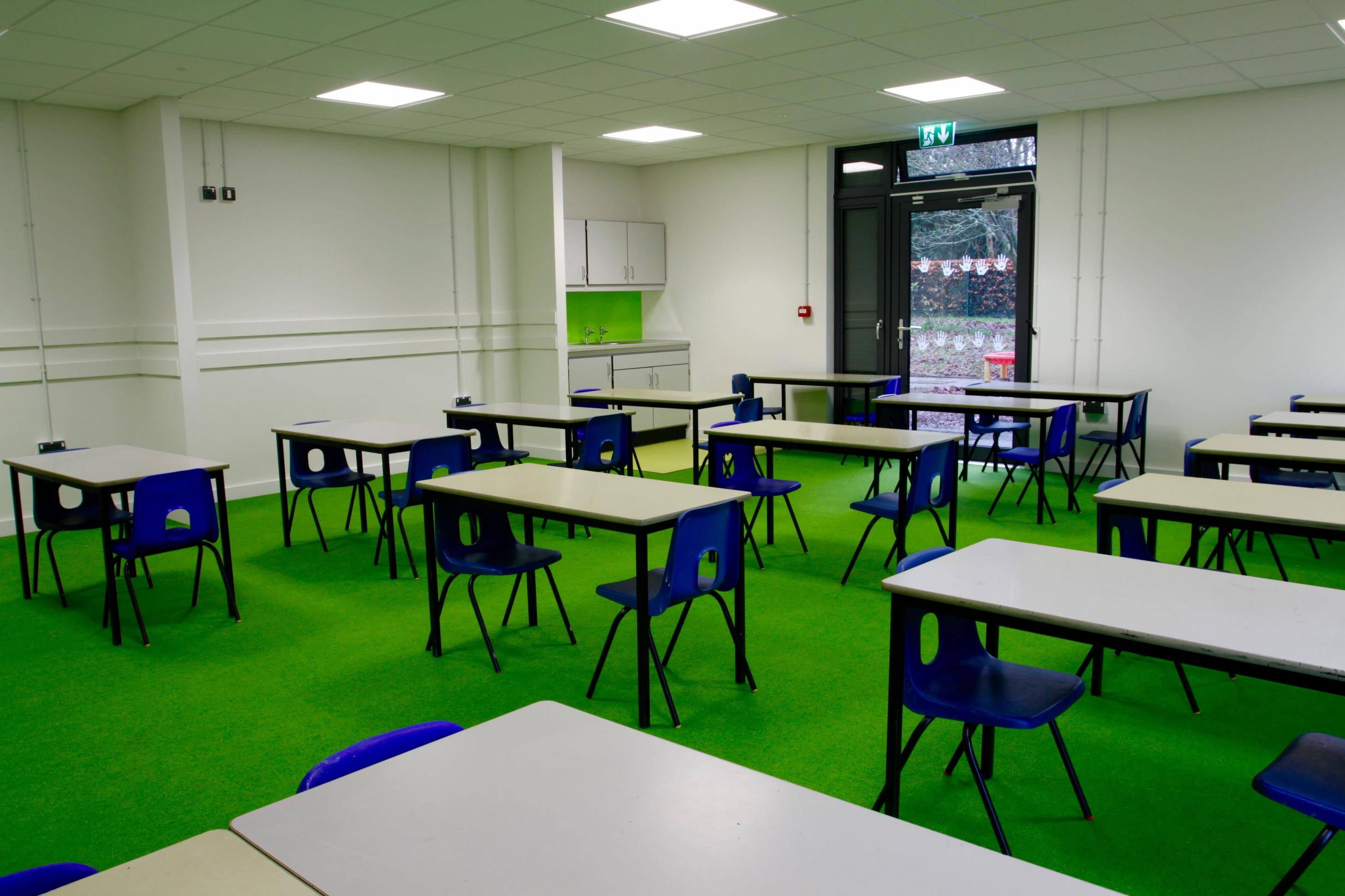 Classroom Design Uk ~ Langton green primary abbott construction